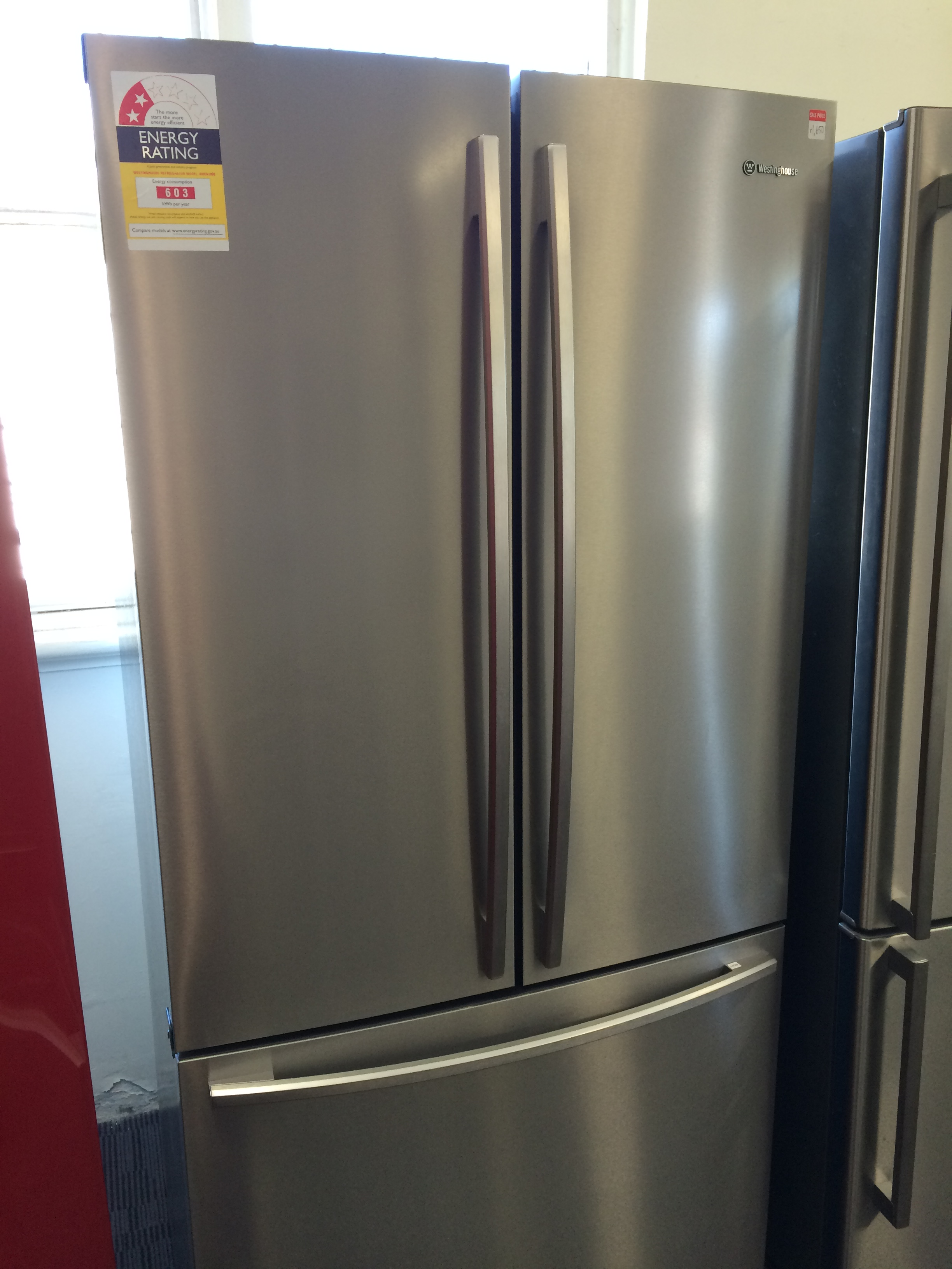 Sold Westinghouse 510 Ltr French Door Stainless Steel Fridge